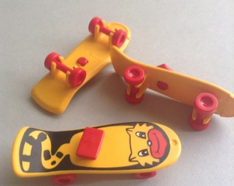 Playmobil Skateboards, yellow and red, set of 3, Playmobil Supplies / parts, Greece