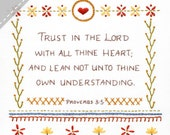 Trust in the Lord - Complete Embroidery KIT