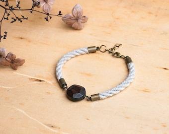 HELLAS Faceted Wood Rope Bracelet