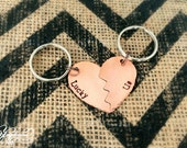 STORE CLOSING SALE Lucky Us Heart Keychain Set