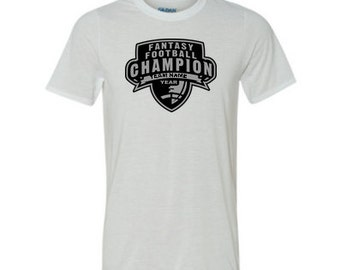 Custom Personalized Fantasy Football Championship T Shirt