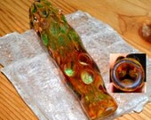 Heady Exquisite Ice Pinch Color Changing Honeycomb Glass Pipe Chillum - Handblown Glass