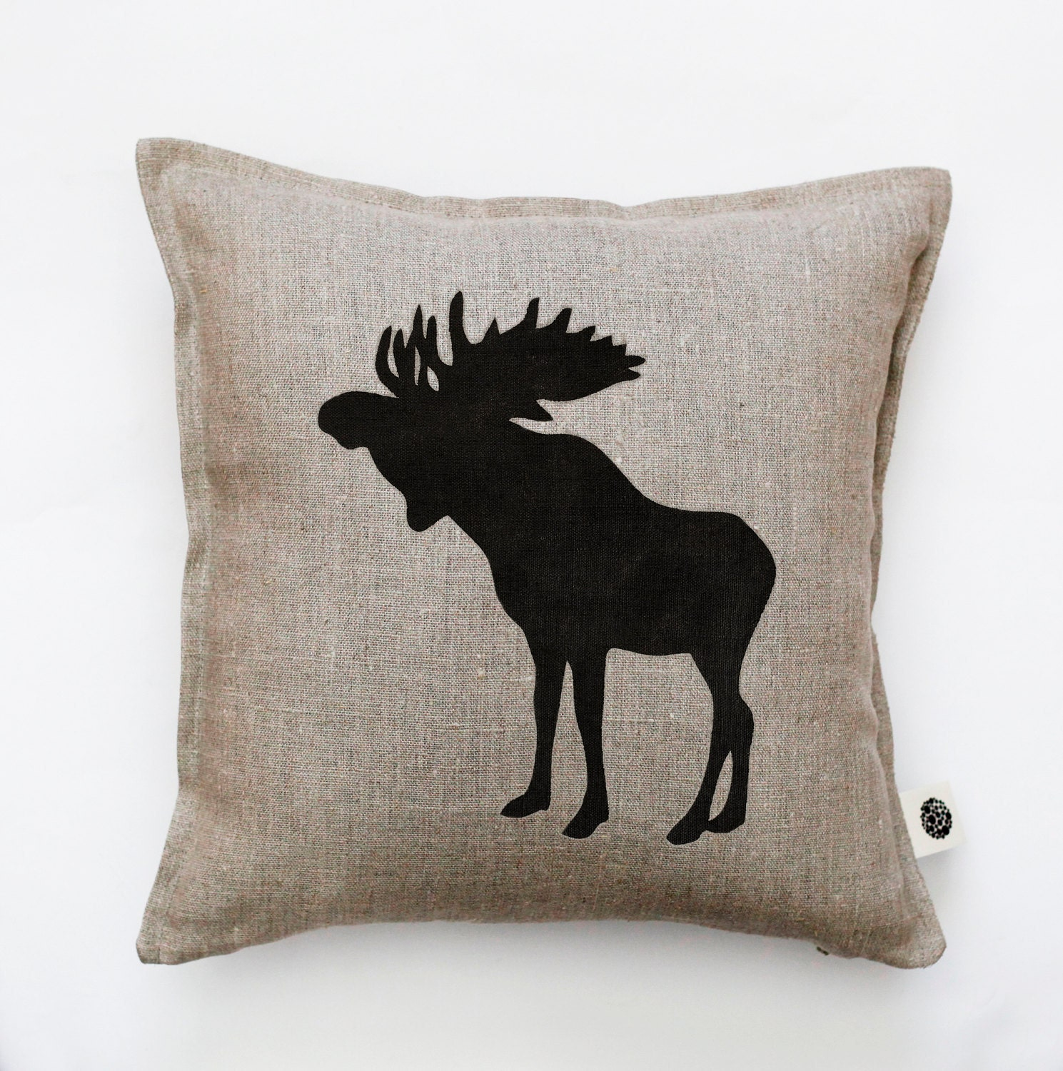 Moose throw pillow cover decorative pillow moose pillow