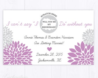 4 Custom Will You Be My Bridesmaid - Bridal Shower