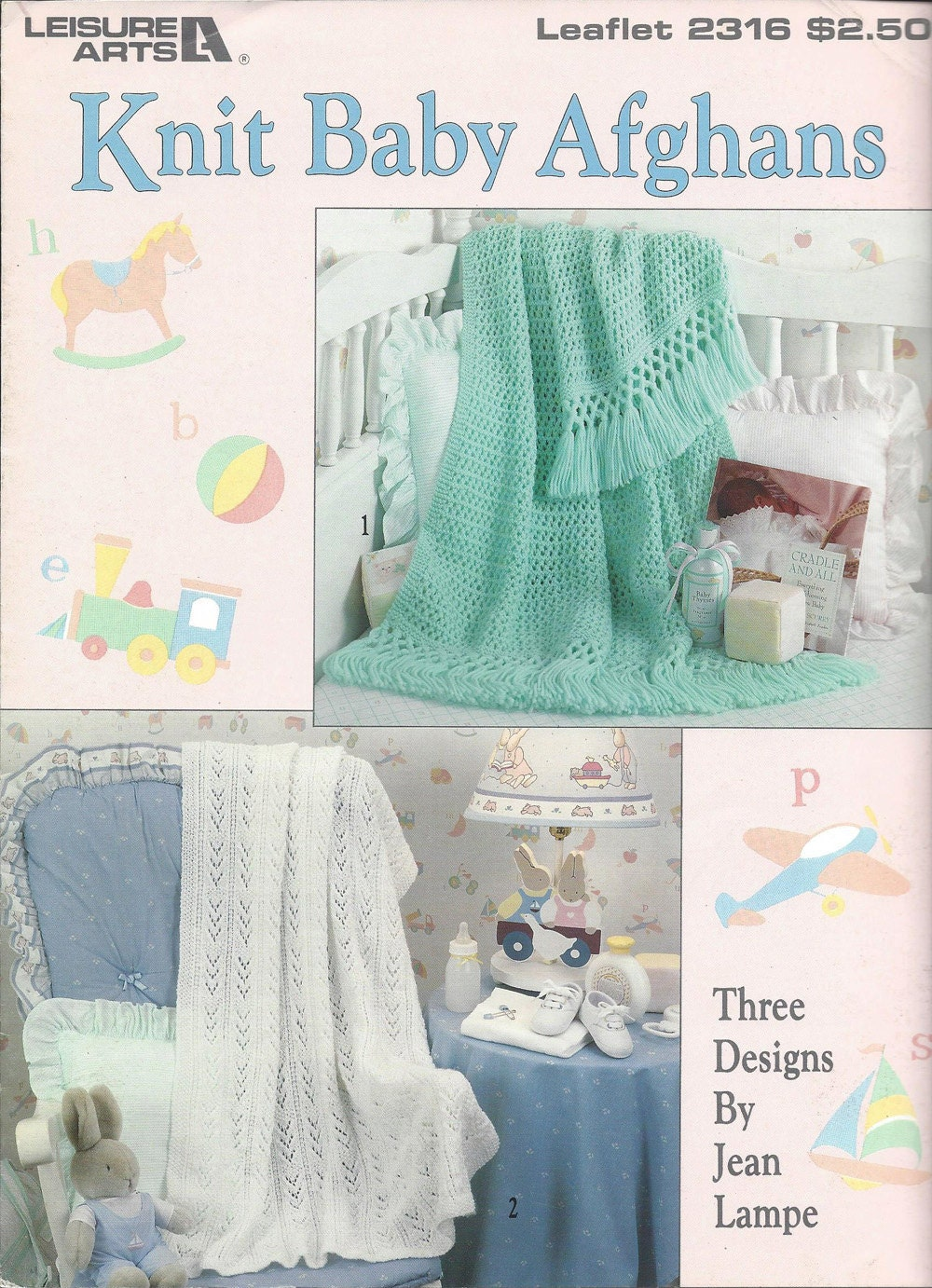 Leisure Arts Knitting Pattern Books : Knit Baby Afghans Leisure Arts 2316 Knit Pattern Baby