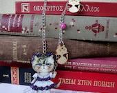 persian cat jewelry, cat jewelry, cat necklace, cat pendant, cat lover gift, cat lady gift, cat lady necklace, cat lady jewelry