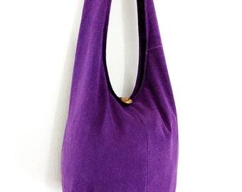 Women bag Handbags Bleached Cotton bag Hippie bag Hobo bag Boho bag Shoulder bag Sling bag Messenger bag Tote bag Crossbody bag Purse Violet