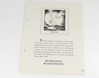 JFK Memorabilia - Atlanta Newspaper Special Memorial Portfolio