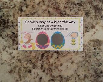 20 Easter Gender Reveal Scratch Off Tickets