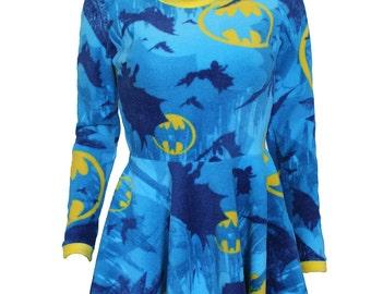Fleece Batman Skater Dress
