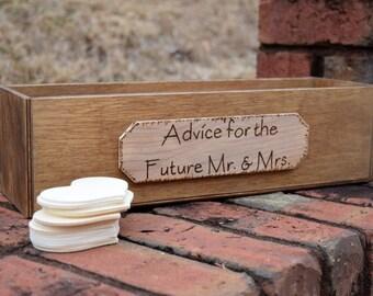Rustic Wedding Advice Box - Wishing Well - Rustic Wedding - Shabby Chic Wedding - Heart Drop Box - Wedding Wishing Well - Rustic Guest Book