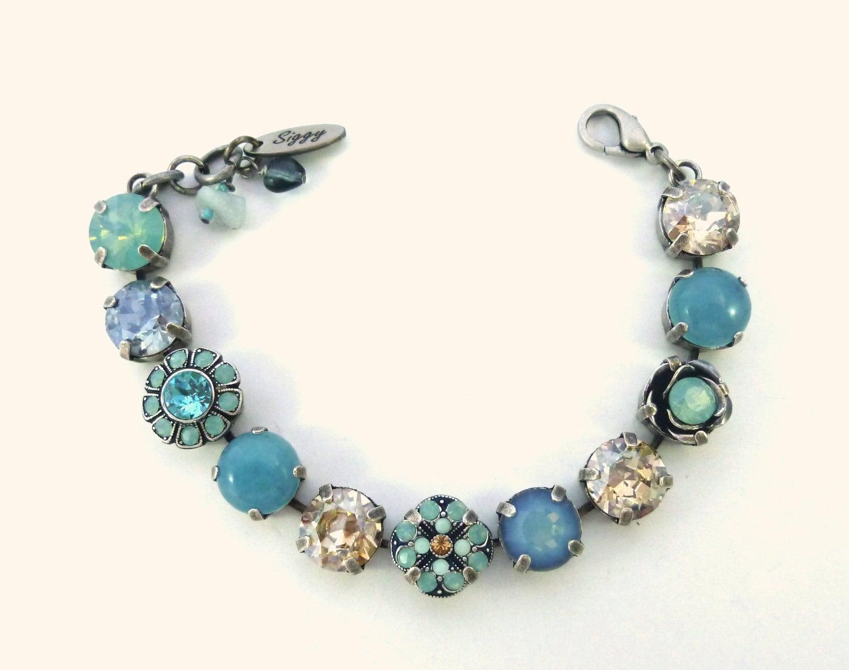 swarovski crystal tennis bracelet 11mm 47ss pacific opals. Black Bedroom Furniture Sets. Home Design Ideas