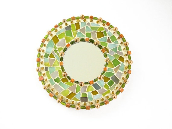 Small mosaic mirror feng shui decorative mirror shabby for Small decorative mirrors