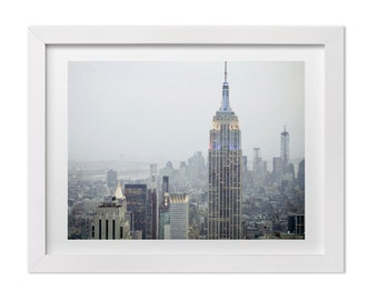 New York Photography, Empire State Building at Sunset, NYC Art Print, Urban Home Decor, Architecture Photo, Large Manhattan Wall Art