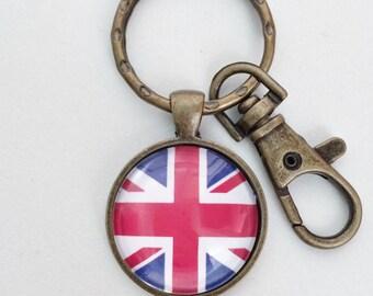 United Kingdom Flag Key Chain Bag Charm KC114