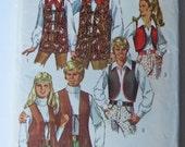 Vintage 1970 Simplicity His & Hers Vest Pattern - Sz sm