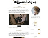 Hollywood Darling Premade Blogger Template - Blogger Theme - Blogspot Template - Feminine Gold and Black Fashion Lifestyle