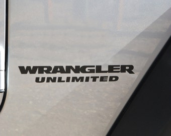 Jeep Wrangler Unlimited JK Replacement Stock Logo 2pc Full Set