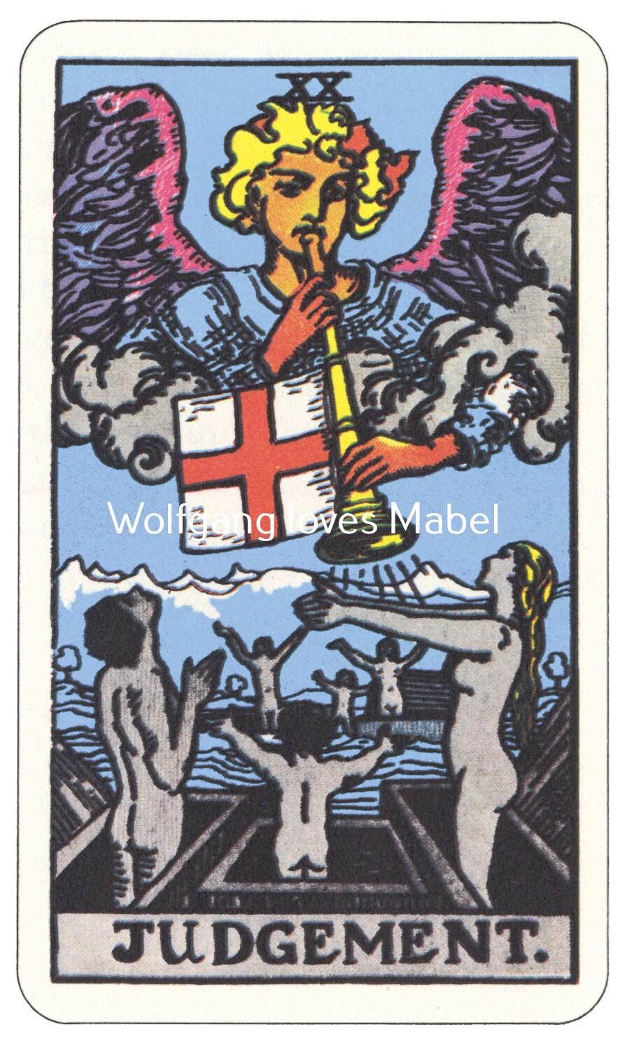 Judgement XX Rider-Waite-Smith Tarot Card By