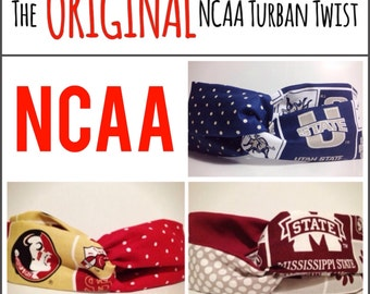 NCAA Turban Twist Headband (The ORIGINAL and Number 1 Selling NCAA Turban Twist Headband)