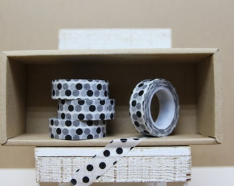 Washi Tape - black polka dots - 9014