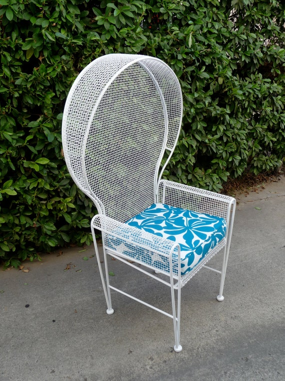 rare russell woodard patio chair outdoor patio furniture cast iron chair mid century modern patio