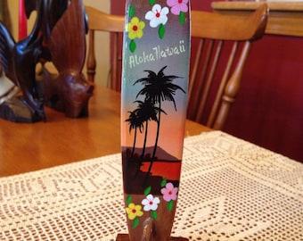 Fun Vintage Hawaiian Surfboard Souvenir