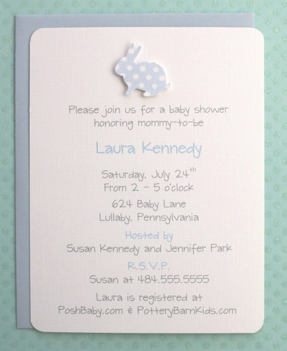 bunny baby shower invitations baby boy bunny baby shower invitations