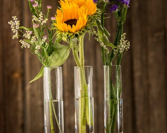 Wood Bud Vase with Iron - Curly Maple and Hand Forged Iron Triple Bud Vase