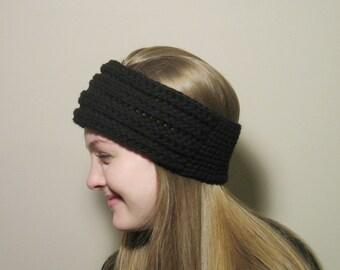 Crochet Ribbed Headband, Womans Headband, Teen Girl Headband, Ladies Headband, Winter Headband, Ear Warmer, Fall Ear Warmer, Textured
