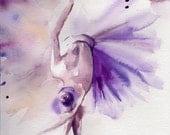 Ballerina Original Watercolor Painting, Dance Ballet Watercolour Art, Modern Art