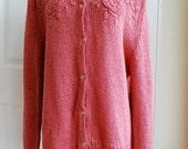 Rose Pink Knit Sweater by Desiree'