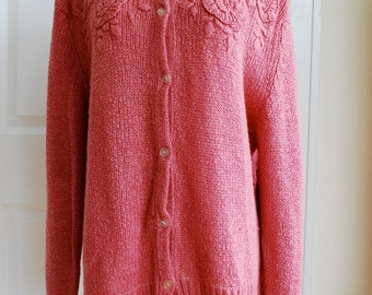 Rose Pink Knit Sweater by Desiree'