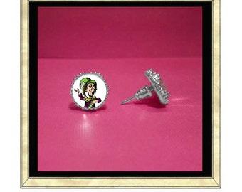 Madhatter Earrings - Silver Plated Earrings