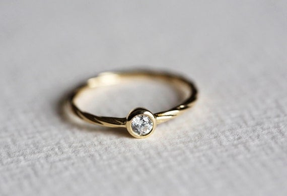 simple wedding ring simple engagement ring solitaire ring dainty 7520