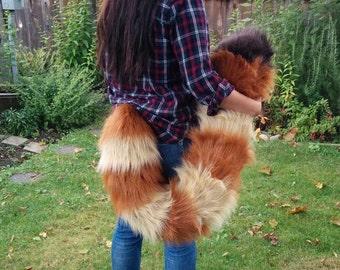 Red Panda Floor Dragging Costume Tail