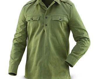 Vintage 1970s soviet era Bulgarian hunting shirt field army military cossack coat fieldshirt shirt communist
