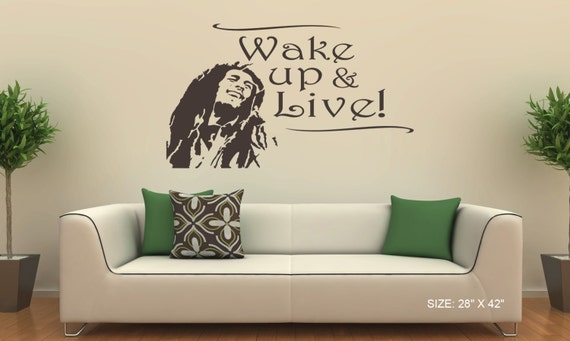Https Www Etsy Com Listing 209287221 Bob Marley Wall Decal Vinyl Sticker Home