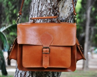 Camera Messenger Bag - DSLR Carry Leather Case -  Shoulder Bag