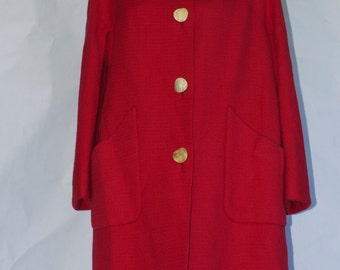 "Traina-Norell 1950's Wool ""Subway"" Coat."