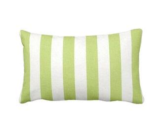 Lime Green Pillow Cover Green Throw Pillow Cover Kiwi Green Pillows Green Lumbar Pillows Striped Pillow Decorative Pillows for Chair Cushion