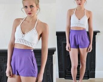 20% OFF 1970's Diane Von Furstenberg High Waisted Purple Hot Pant Shorts