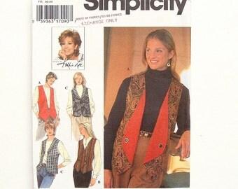 Simplicity Reversible Vest Sewing Pattern 9741 - UNCUT - Size 12+14+16