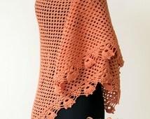 Triangle shawl pattern, Lace crochet shawl pattern, stole crochet patterns, Crochet Shawl pattern, Instant Download /1002/