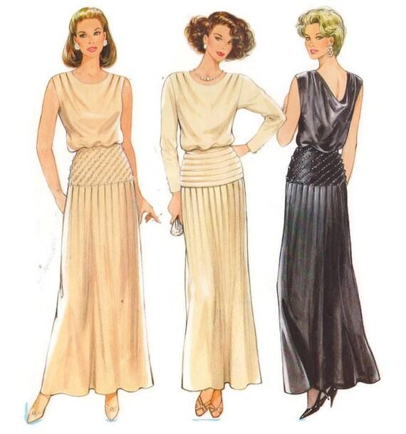 Patron de couture Burda 6699 modèle robe de soirée en anglais