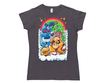 Womens Zombie Care Bears T Shirt