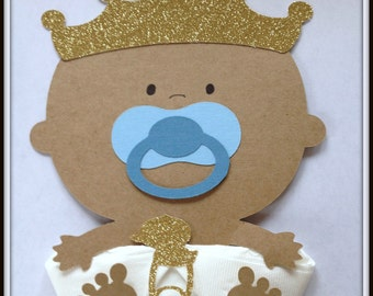 African American Prince Baby Shower Napkins Baby Shower Decor Party Napkins Baby Napkins Party Supplies