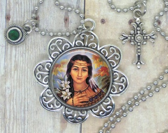 Saint Kateri Tekakwitha, Lily of the Mohawks, 1st Native American Saint, Loved by all Nations, Help for Skin and Injury Healing. Holy Help.