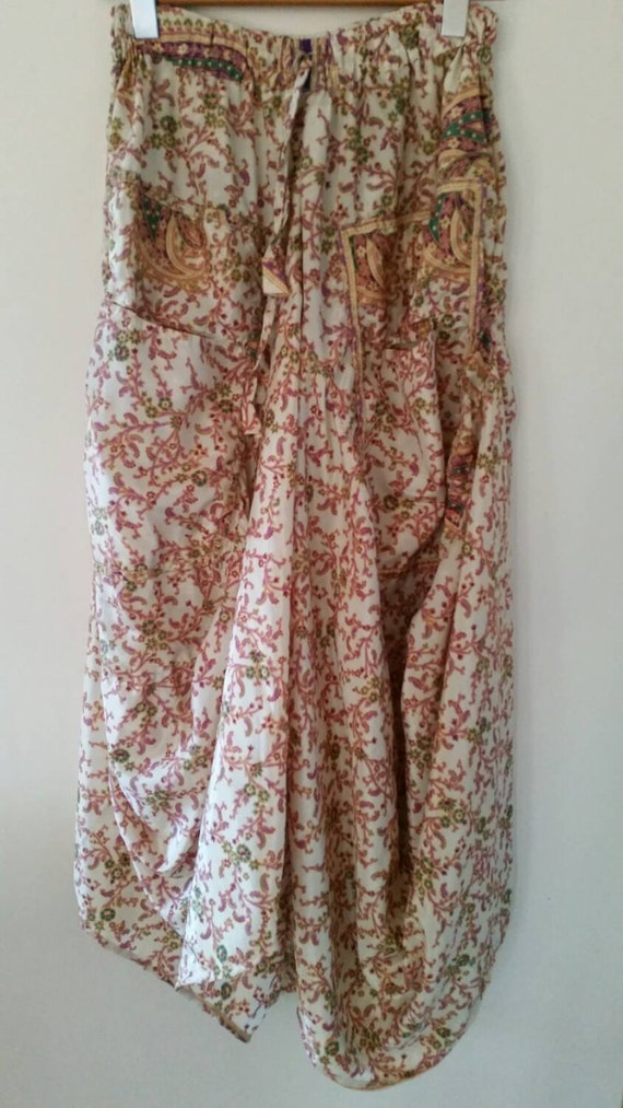 maxi skirt with pockets and drawstring by 2birdsbroome