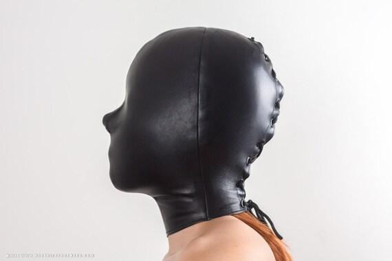Custom leather bondage hoods